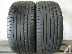 265/45R20  Set of 2 Continental  Used FREE Inst.&Bal.70%tread