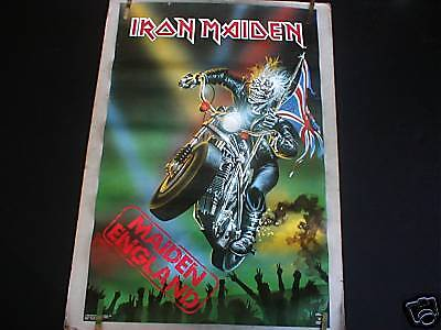 RARE IRON MAIDEN ENGLAND 1990 VINTAGE MUSIC POSTER