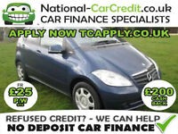 Mercedes A Class -BENZ 1.5 A150 Classic SE 5dr Good / Bad Credit Car Finance (blue) 2009