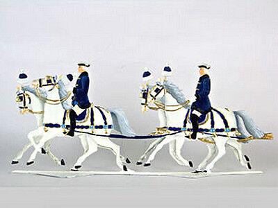 Wilhelm Schweizer German Pewter Zinn - KING LUDWIG II SLED TRIP HORSE Bavaria