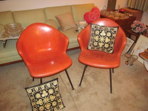 Pair Mid Century Chairs Ebay
