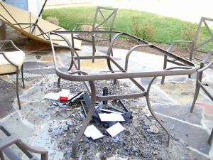 Wtb Looking For unwanted metal outdoor patio dining table
