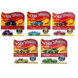 HOT WHEELS 50TH ANNIVERSARY REDLINE WITH BUTTON FTX83-956A 5 CAR SET IN TRANSIT