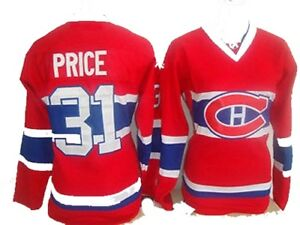 Chandail femme jersey canadiens NHL HABS montreal jersey shirt