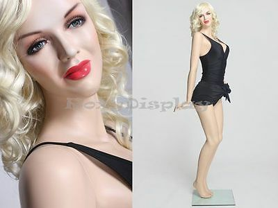 Sexy Female Fiberglass Mannequin Marilyn Monroe Style Dress Form Mz-monroe3