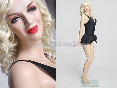 Sexy Female Fiberglass Mannequin Marilyn Monroe Style Dress Form Mz-monroe3