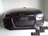 Front end AUDI A4 8K B8 2012 - 2015 Front bumper, bonnet, radiator pack, headlights, fenders