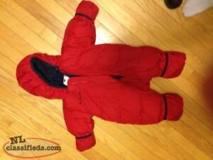 several baby snowsuits for sale