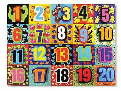 Melissa & Doug Jumbo Numbers Chunky Puzzle #3832 New Sealed