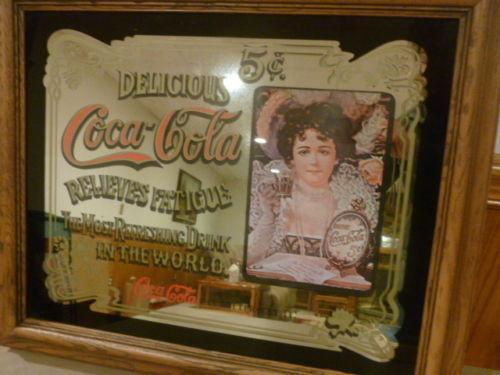 Coca Cola Mirror Sign Ebay