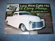 Chevy 5 Window Pickup