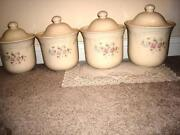 Pfaltzgraff Tea Rose Canister Set