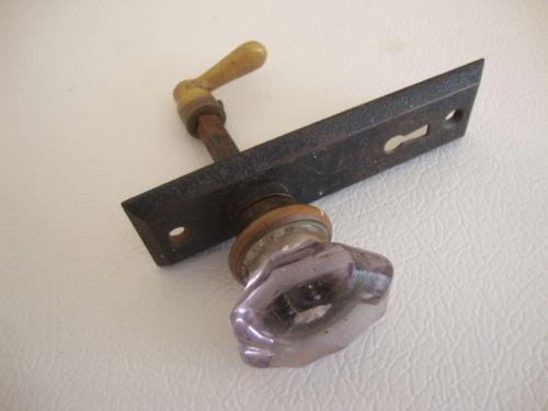 Vintage Purple Glass Door Knobs Ebay