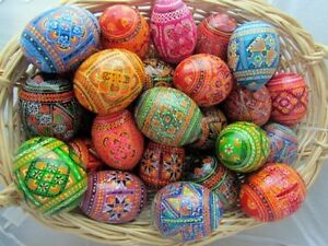Beautiful Easter Eggs Russian Ukrainian Polish Pisanki Holiday Traditional Kids