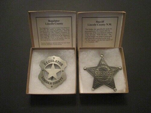 Billy the Kid and Pat Garrett-- 2 Great Badges