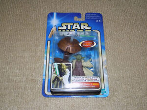STAR WARS, ATTACK OF THE CLONES, YODA, ACTION FIGURE, 2002, NM