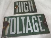 Vintage High Voltage Sign