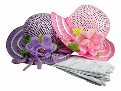 Cutie Collections Girl's Tea Party Hats and Gloves Set ](Tea Party Hats And Gloves)