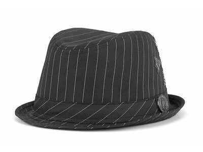 - Awe Mighty All Stud Fedora Black Striped Hat Cap Cross Logo on side size L/XL