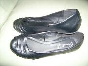 Black Flat Shoes Size 5