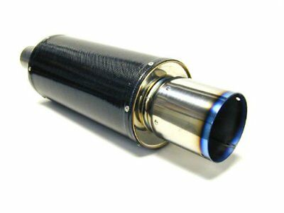 HKS (31012-BA001) Universal Carbon-Ti Cat-back Exhaust-170mm Shell/75mm Diameter