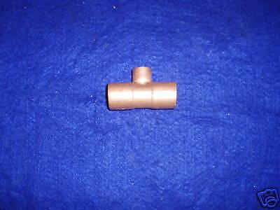 1 X 1 X 12 Copper Tee 1 X 12 Copper Reducing Teefits 1-18 Od X 58od