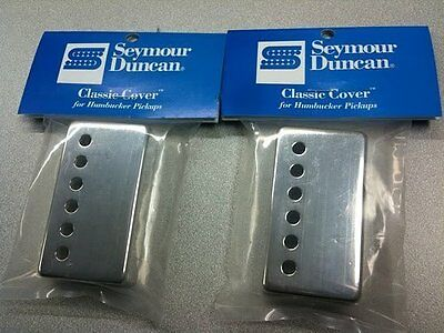 Seymour Duncan Classic Cover Nickel Silver Humbucker Pickup Covers Pair of 2  Humbucker Pickup Cover