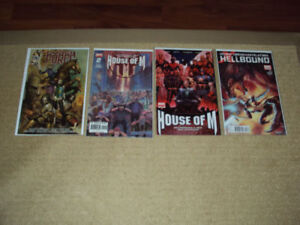 4 COMIC BOOKS, HOUSE OF M #1 VARIANT, #2, X-MEN HELLBOUND #3