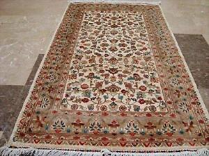 Wow Pestal Mute Flowers Oriental Area Rug Hand Knotted Wool Silk Carpet (5 x 3)'