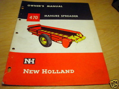 New Holland 470 Manure Spreader Operators Manual Nh