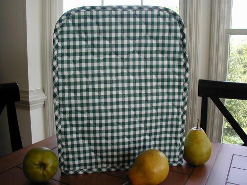 Hunter Green Gingham Breadmaker Appliance Cover