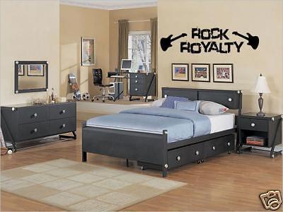(ROCK ROYALTY Boys Teen Bedroom Vinyl Wall Art Decal 36