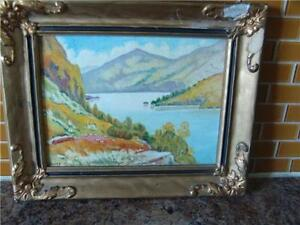 Small oil on board  Loch Lomand (Scotland) signed by S. Berry