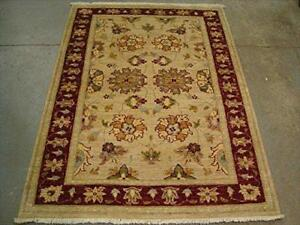 Exclusive Rare Chobi Veg Dyed Mahal Zeiglar Rectangle Area Rug Hand Knotted Carpet (5.8 x 4.2)'