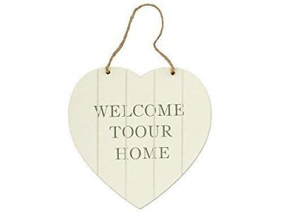 NEW Welcome Heart Shaped Wall Plaque FREE SHIPPING (Heart Shaped Plaque)