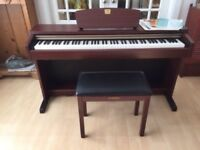 Yamaha Clavinova CLP-220 Digital Piano in mahogany + matching colour stool in excellent condition