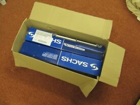 NEW: 2x Shock Absorber Rear Axle Oil Pressure SACHS 105 740 for VW GOLF Mk II or SEAT TOLEDO I
