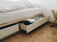 IKEA King Size bed frame AND mattress £75 MANDAL