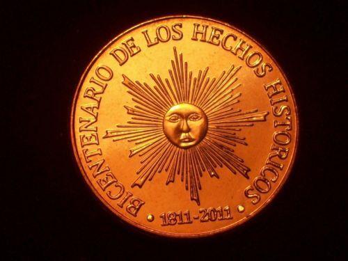 NEW 2011 NEW URUGUAY 50 PESOS SUN RADIANT BU CONDITION X 6 COINS