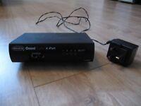 Belkin Omni Cube 4 Port KVM Switch ~ VIEW & CONTROL 4 PCs on 1 SCREEN