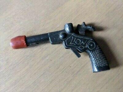 Lion Cast Iron Cap Gun 3 3/4 Inches Long