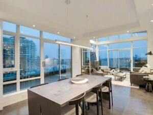 Custom 3 Bedroom Yaletown Waterfront Penthouse with over 800 Sq
