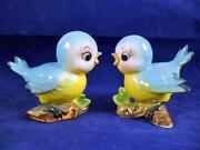 Vintage Blue Salt and Pepper Shakers