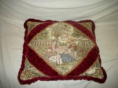 Vintage Ruched Pleated Tucked Velvet Romantic Tapestry Belgium Pillow Paris Apt