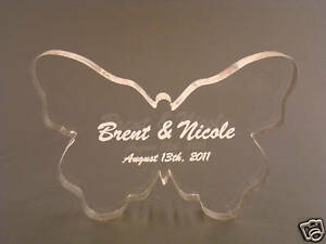 Personalized Acrylic Butterfly Wedding Cake Topper
