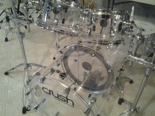 crush acrylic drums ebay. Black Bedroom Furniture Sets. Home Design Ideas