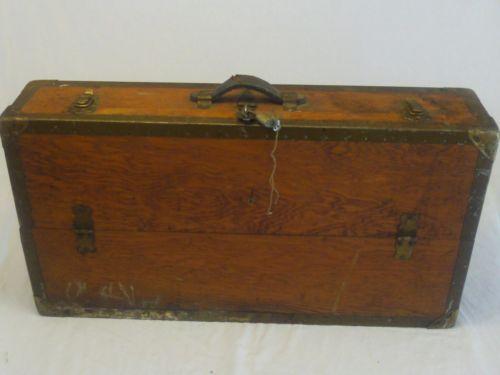 Vintage Wood Tool Chest Ebay