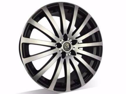 1X 19X8 inch Brand New Machine Black Wheels, suits COMMODORE,BMW3