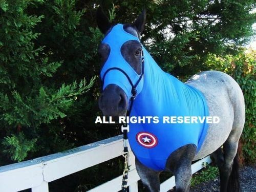 Horse Sleazy Hood LARGE CAPTAIN AMERICAN HORSE SLEAZY COSTUME  *L