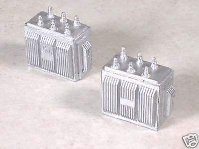 N Scale 2 Large Electrical Substation Transformers, version #3